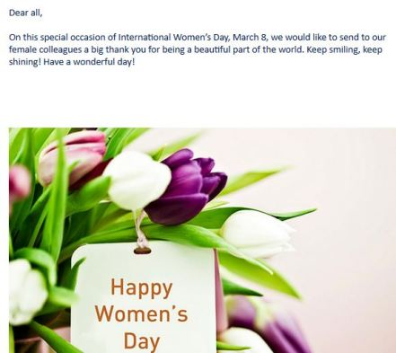 womens day email