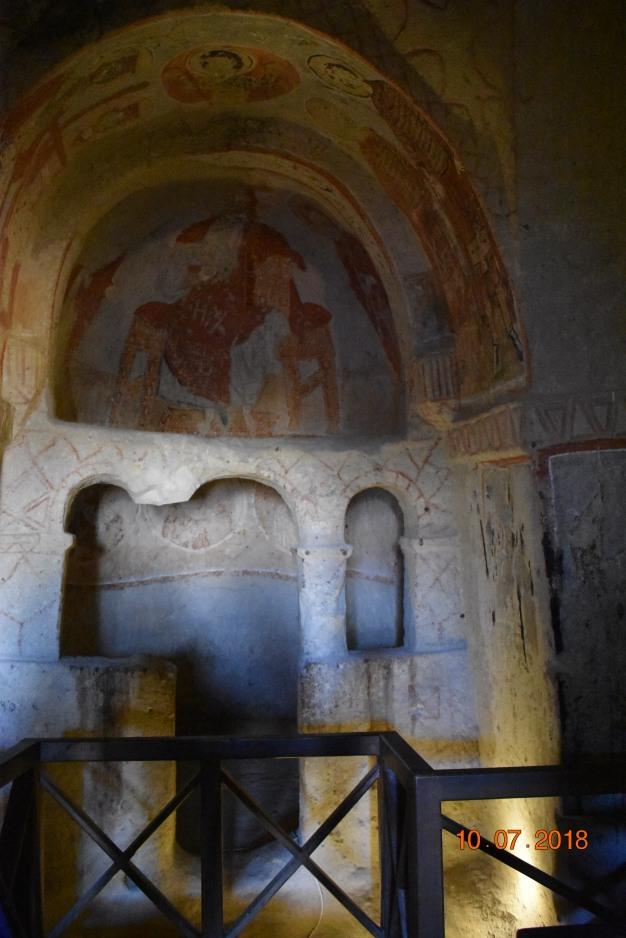 Frescoes in a church